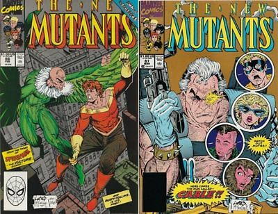 New Mutants 86 87 B 1st appearance of Cable deadpool X-Men movie 1st 2nd print