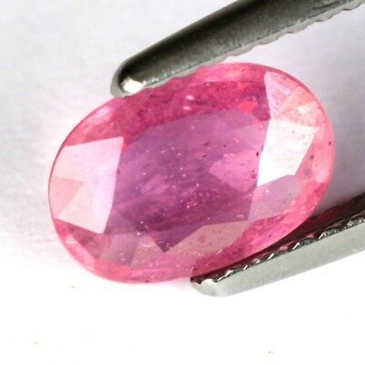 *1.50 cts. 8.8 x 6.2 mm. NICE HEATED OVAL RED RUBY MOZAMBIQUE
