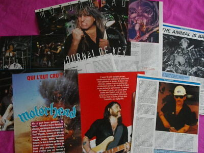 MOTORHEAD 10 full pages press clipping from  80's & 90's french magazines