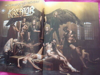 KREATOR ,  6 full pages press clipping from a 2017 french magazine