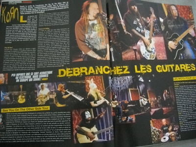KORN ,  7 full pages press clipping from 2006 french magazines