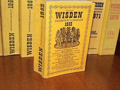 Wisden Cricketers' Almanack 1953 linen covered edition EXCELLENT cond