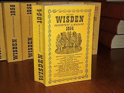 Wisden Cricketers' Almanack 1954 linen covered edition EXCELLENT/FINE cond