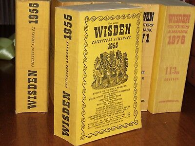Wisden Cricketers' Almanack 1955 linen covered editIon EXCELLENT/FINE cond