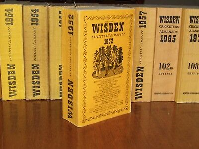 Wisden Cricketers' Almanack 1952 linen covered edition EXCEPTIONAL/FINE cond