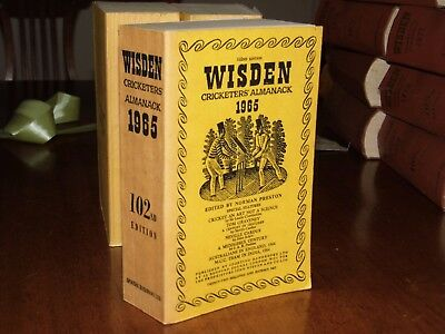 Wisden Cricketers' Almanack 1965 linen covered editIon EXCELLENT/FINE cond