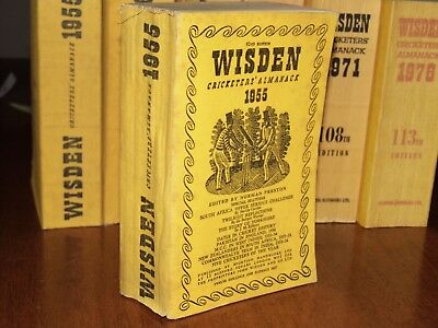 Wisden Cricketers' Almanack 1955 linen covered editIon VERY GOOD cond