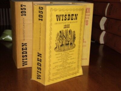 Wisden Cricketers' Almanack 1956 linen covered editIon EXCELLENT/FINE cond