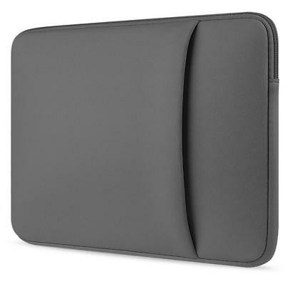 """Gray Laptop Sleeve Notebook Case Bag For MacBook 11""""12""""13""""14""""15""""15.6"""" HP Dell"""