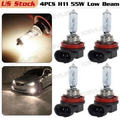 4pcs H11 55W Halogen Bulb for Low beam Headlight Position DOT Approved