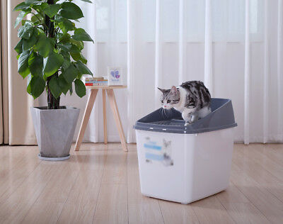 A23 Pet Toiletries Portable Cat Toilet Tray House Litter Box Scoop Carrier Hood