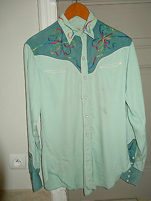 CHEMISE 1950's LEVIS STRAUSS Authentic Western Wear Shirt Sawtooth original
