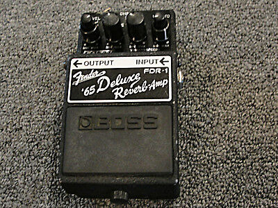 Boss FDR-1 Fender 65 Deluxe Reverb Amp Guitar Effects Pedal USED