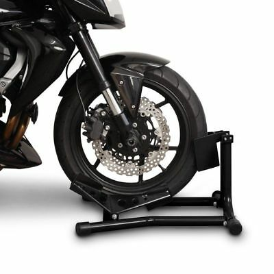 Paddock stand front wheel chock CPO motorcycle motorbike