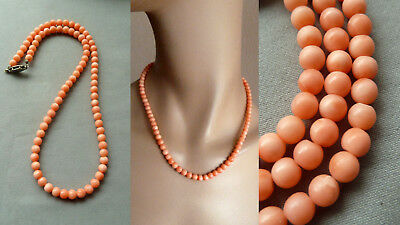 AWYZ 珊瑚项链 22,8 g antique natural coral necklace Korallen Perlen Kette Collier