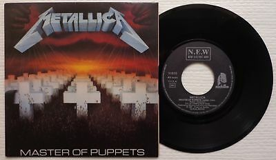 "METALLICA 'Master Of Puppets' 1986 French 7""/45 rpm vinyl single - ORIGINAL!"