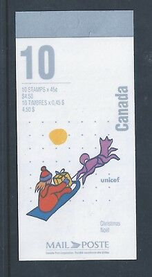 Canada Booklet 1996 Gifts By Sled #BK196b MNH