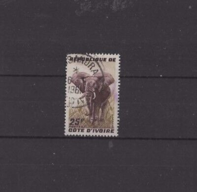 IVORY COAST , 1959, SG181 TY17 25f BROWN AND BISTRE, USED