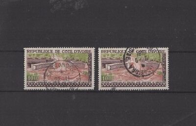 IVORY COAST , 1959, SG183 TY18 100f BROWN,GREEN AND CHOCOLATE, USED.......G.C.V.