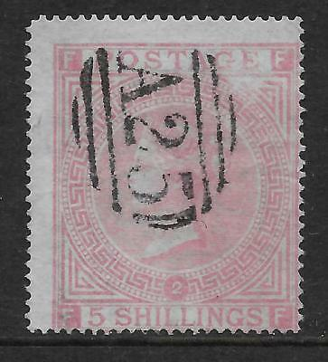 Malta  Sg Z85  1867/74   5/- Plate 2 Used   With Very Fine A25  Cancel