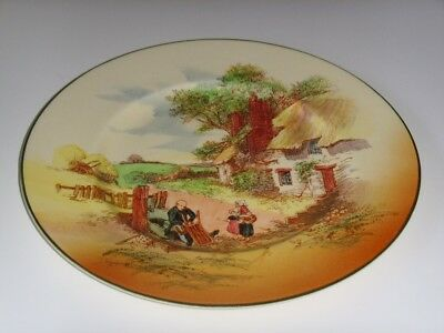 "Royal Doulton Series Ware ""rustic England"" Rack Plate ~ Perfect"