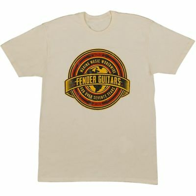 Fender Worldwide Mens Tee Tan S