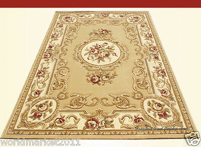 A8 European Style Pure Wool Length 170CM Manual Weaving Carved Flowers Carpet