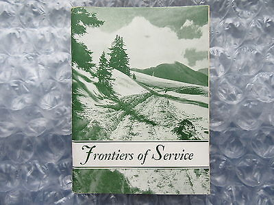 Old Circa 1930's Canada Missions Book Frontiers of Service