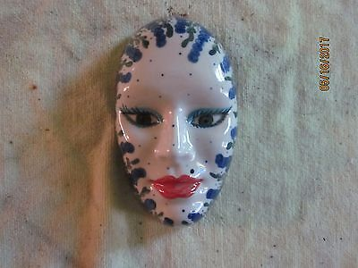 Vintage Mexican Clay Table Display Mask