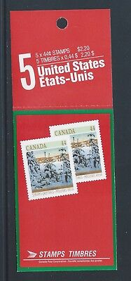 Canada Booklet 1989 Christmas #BK108 MNH