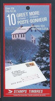 Canada Booklet 1989 Christmas #BK106 MNH