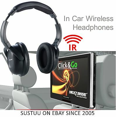 NextBase Click & GO Compatible Wireless Headphones│For In Car DVD Movie Use