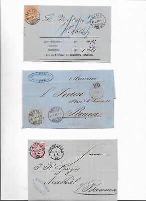 Switzerland sitting helvetias 3x covers (#8734a)