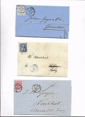 Switzerland sitting helvetias 3x covers (#8735a)
