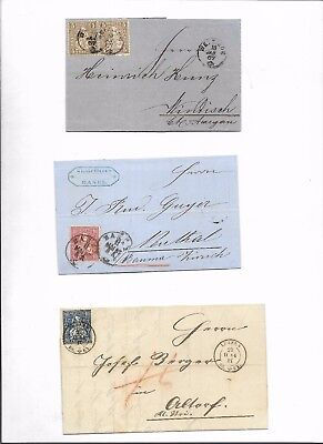 Switzerland sitting helvetias 3x covers (#8736a)