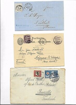 Switzerland 3x interesting covers  (#8737a)