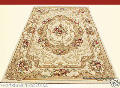 A10 European Style Pure Wool Length 170CM Manual Weaving Carved Flowers Carpet