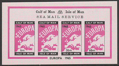 IOM Calf of Man 6045- 1965  EUROPA  imperf  m/sheet unmounted mint