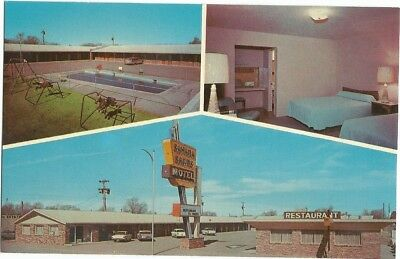 Tucumcari, NM New Mexico old Postcard, Hwy 66, Sahara Sands Motel, Route 66