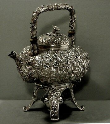 Gorham Sterling Teapot & Stand   c1880   * Shell Leaf & Berry  *      57 Ounces