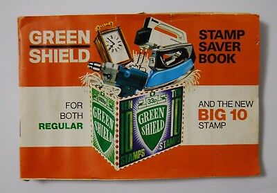 A full book of Green Shield Stamps - Filled With Regular & Big 10 Stamps