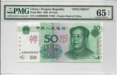 China / Peoples Republic, Peoples Bank of China - 50 Yuan, 1999. Sp. PMG 65EPQ.