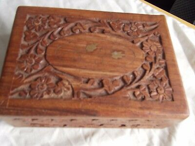 Super Used Hand Carved Wooden Box For Various Uses Made In India