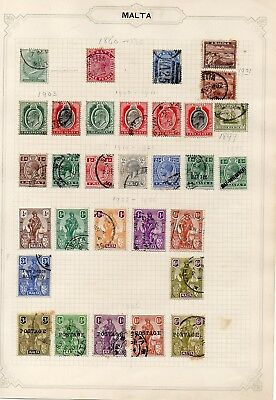 Album Sheets  - Malta x 84 stamps - Hinged Mint and Used
