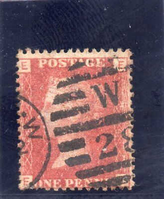 G.B. - Used Penny Red Plate - SG 43/44 - Plate 224