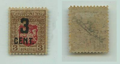 Lithuania, 1922, SC 121, mint, signed. f2566