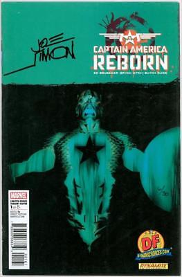 Captain America Reborn #1 Df Dynamic Forces Variant Signed Joe Simon Coa Ltd 30