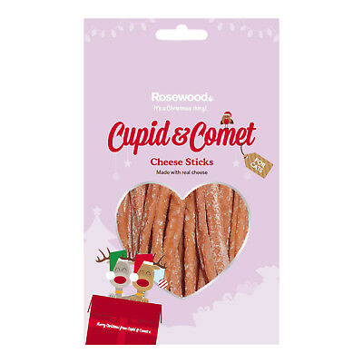 Cupid & Comet Christmas Cheese Sticks For Cats 40g Festive Xmas Cat Treat