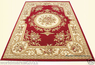 A14 European Style Pure Wool Length 170CM Manual Weaving Carved Flowers Carpet