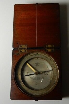 1920's W & LE GURLEY ENGINEER'S COMPASS IN WOOD BOX